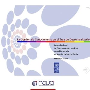 PNUD – Área de descentralización